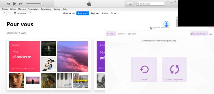 Sauvegarde iTunes avec CopyTrans TuneSwift