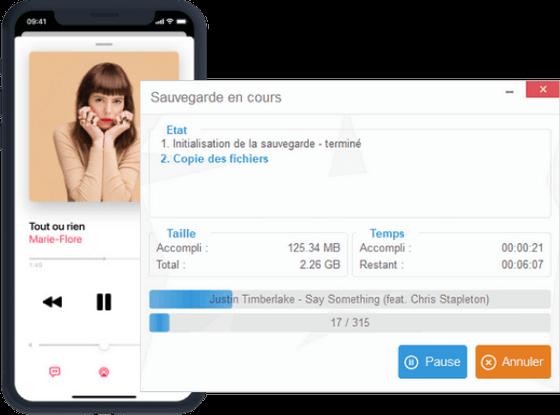 Sauvegarde musique iPhone
