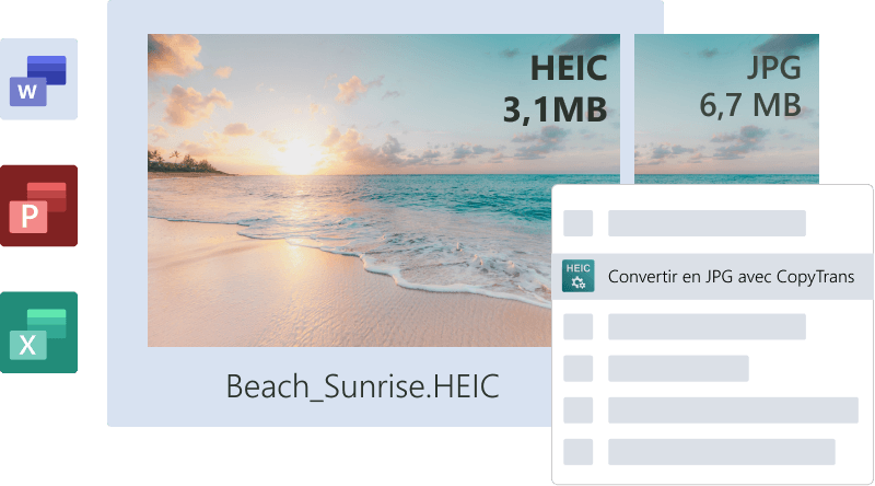 Heic Heif compatible avec Microsoft Office