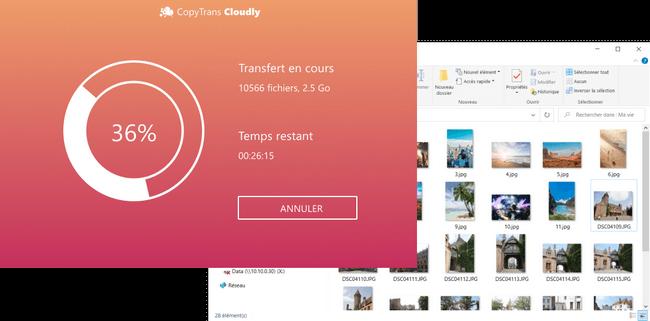 Ajouter photos dans iCloud