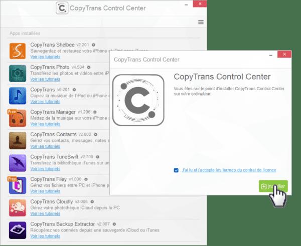 Installer CopyTrans