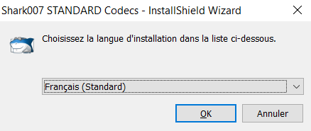 Chosir la langue d'installation