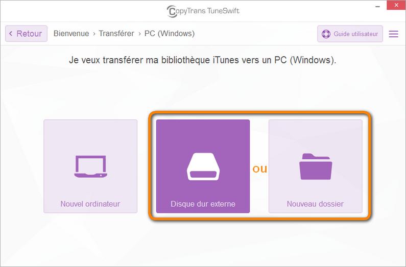 Transférer une bibliothèque iTunes vers un nouveau dossier