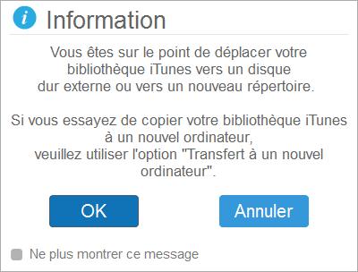 Avant de transférer votre bibliothèque iTunes vers un nouvel ordinateur