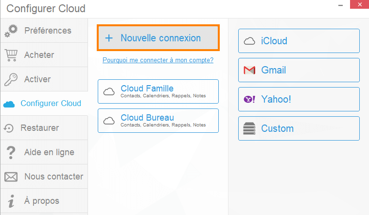 Connecter les contacts cloud avec CopyTrans Contacts