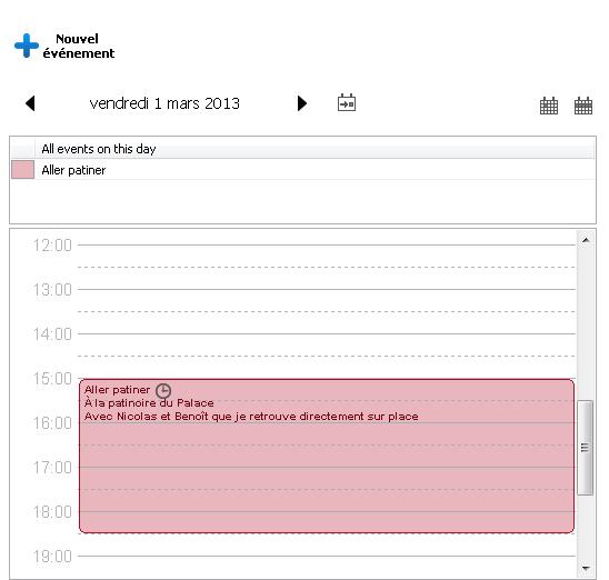 ajouter événement calendrier iPhone