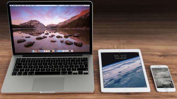 les appareils apple connectés à iCloud