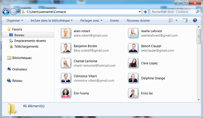 contacts blackberry sur pc