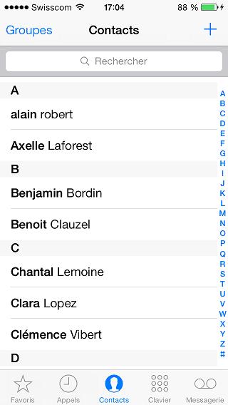 importer contacts blackberry à l'iphone