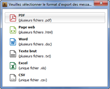 Exporter messages iPhone sur PC
