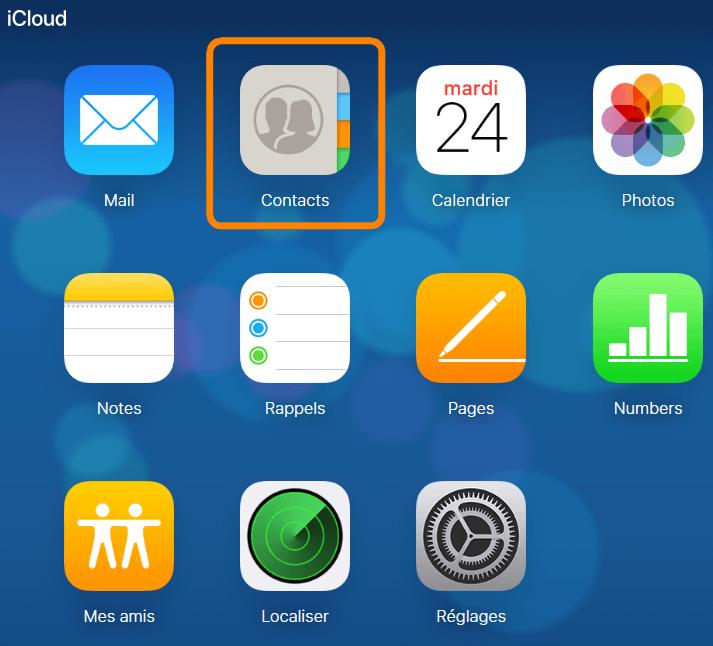 Contacts dans iCloud