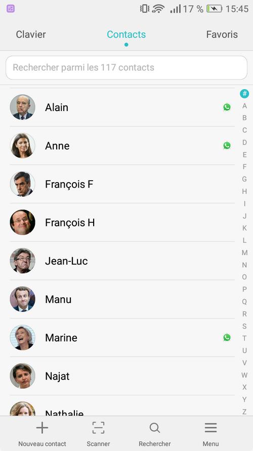 contacts importés dans android depuis iphone