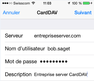 serveur carddav iphone
