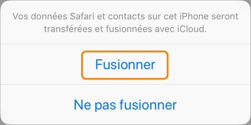 Fusionner les contacts entre iPhone et iCloud
