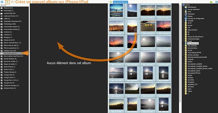 copier photos vers nouvel ipad
