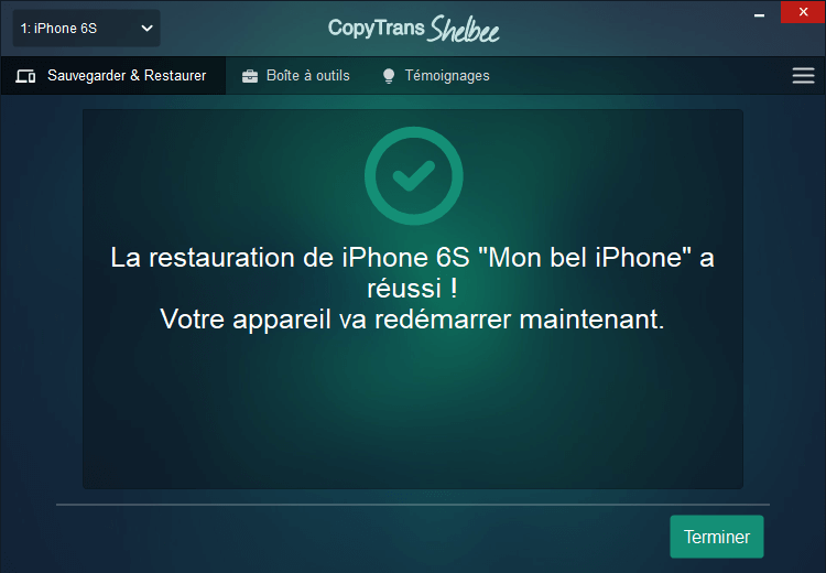 Restaurer WhatsApp sur iPhone