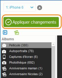 appliquer suppression photos