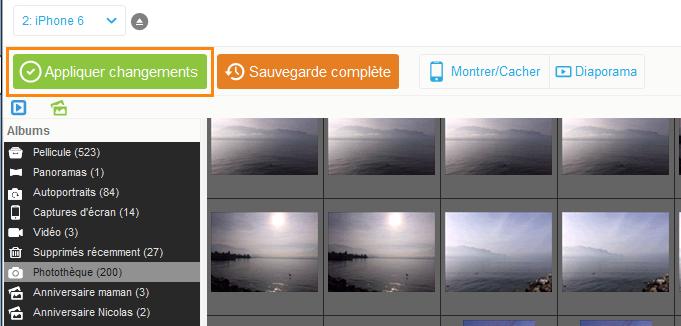 enregistrer copie photos iphone vers pc