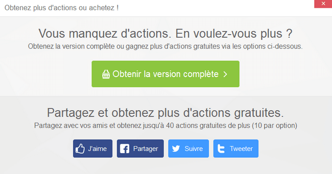 Comment obtenir plus d'actions gratuites dans CopyTrans Photo