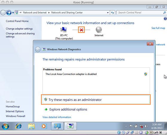 internet config windows on mac