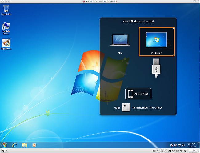 parallels mac run with copytrans