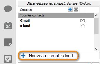 ajouter un nouveau compte cloud