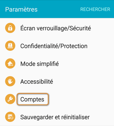 comptes android