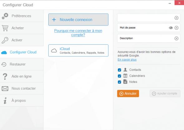configurer un compte gmail