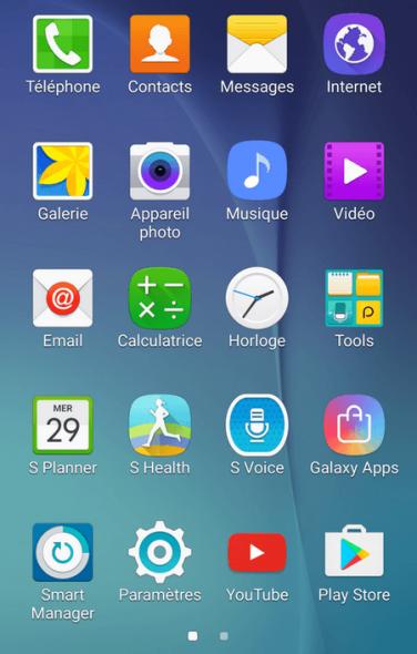 paramètres android