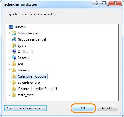 sauvegarde calendrier iphone pc