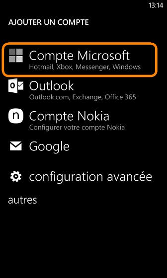 compte microsoft windows