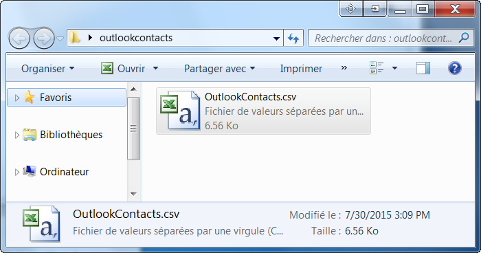 contacts hotmail outlook