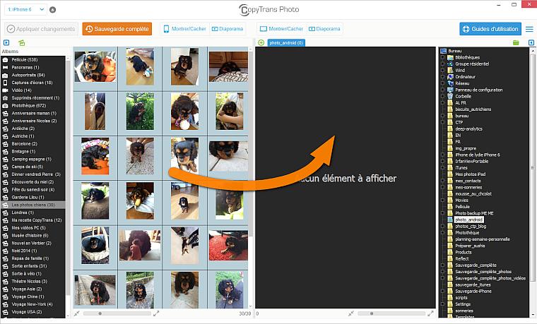 copie photos iphone vers android
