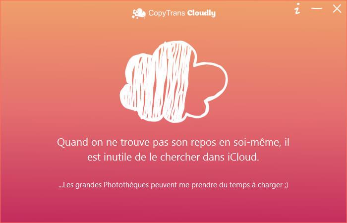 charger les données de la photothèque iCloud