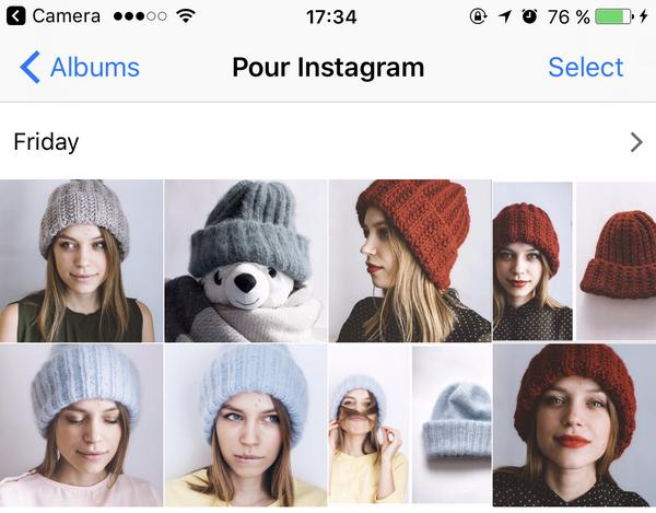 Photos du reflex numérique sur iPhone