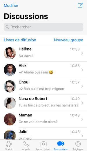 discussions whatsapp restaurer