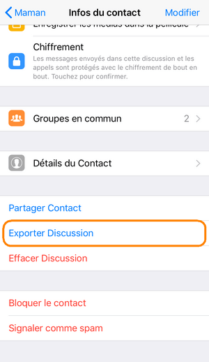 sauvegarder conversation whatsapp iphone sur pc