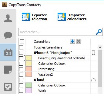 Calendrier Outlook dans iCloud
