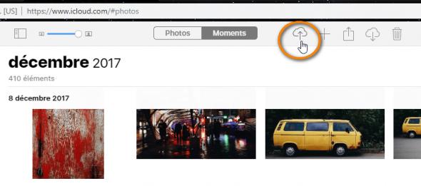 Charger photos dans iCloud.com
