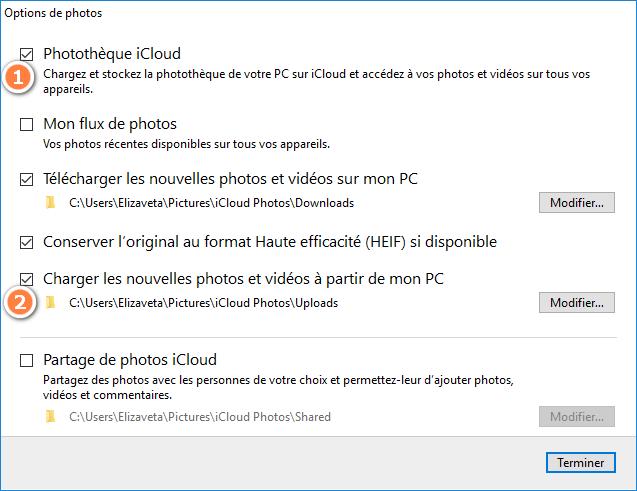 Configurer iCloud pour Windows