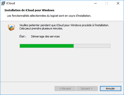 iCloud pour Windows : installation