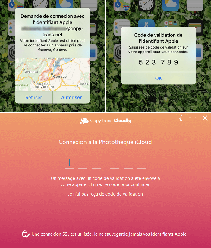 Code vérification Apple