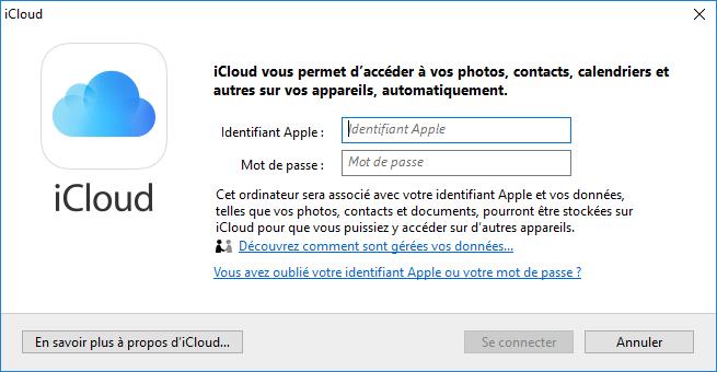 iCloud pour Windows