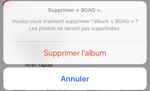 Album supprimé de l'iPhone