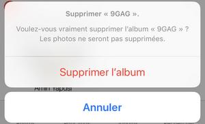 Album supprimé de l'iPhone