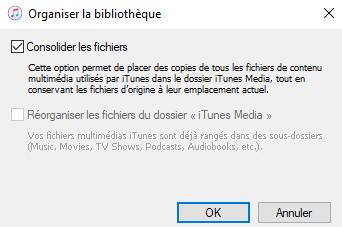 Consolider la bibliothèque iTunes