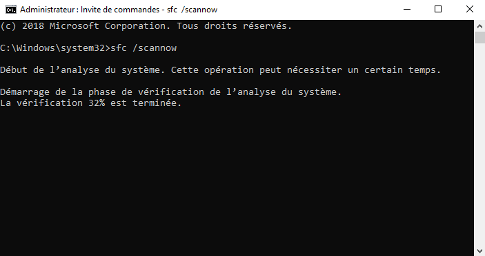 Scanner les composants de Windows