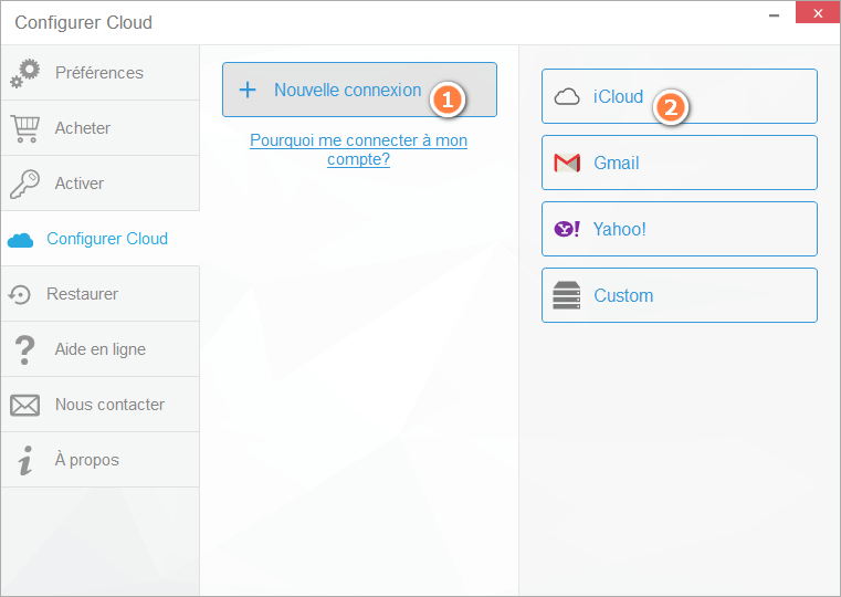 Connecter iCloud