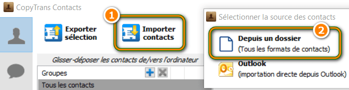 Importer ses contacts Gmail vers l'iPhone