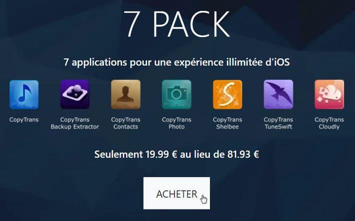 Acheter CopyTrans 7 Pack